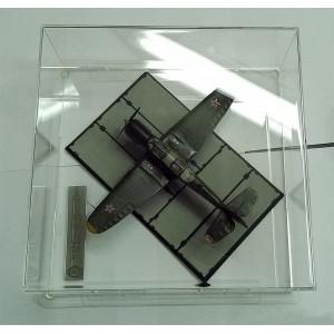 Короб, бокс, футляр для моделей и диорам 250х250х120 мм. На пластиковом основании.