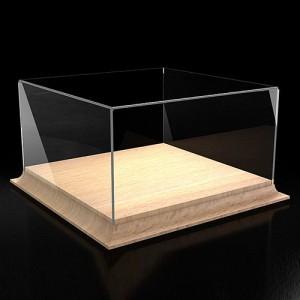 Короб, бокс, футляр для моделей 200х200х100 мм. на деревянном основании.